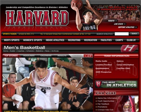 Theres a reason why Lin is prominently featured on GoCrimson.com